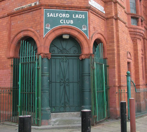 Famed Mancunian Doorway of Salford Lads Club